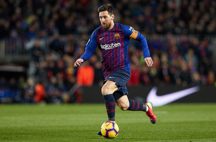 Lionel Messi in actie tegen Eibar.