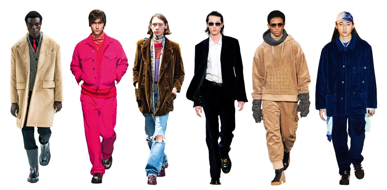 Vanaf links: Prada, MSGM, Gucci, Salvatore Ferragamo, Dolce & Gabbana, Etudes Beeld Imaxtree
