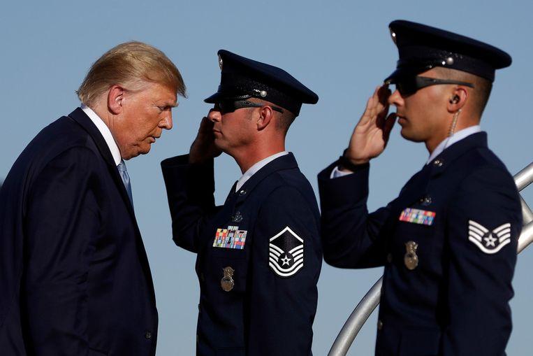De Amerikaanse president Donald Trump. Beeld AP