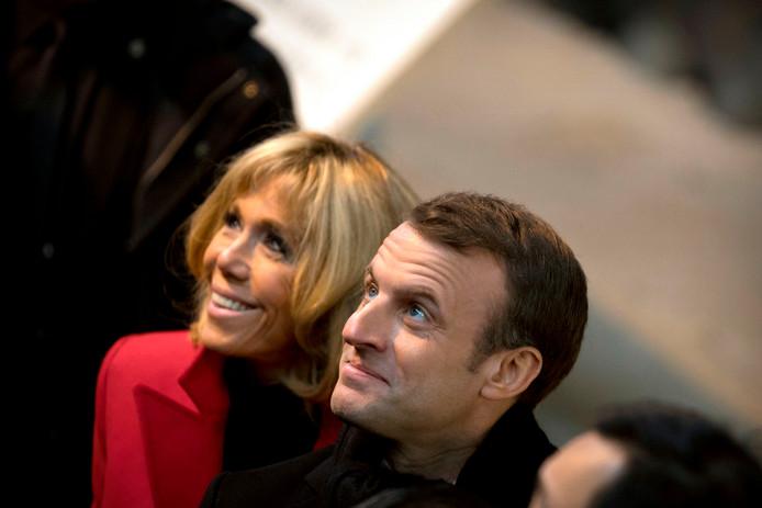 Emmanuel Macron en zijn vrouw Brigitte.