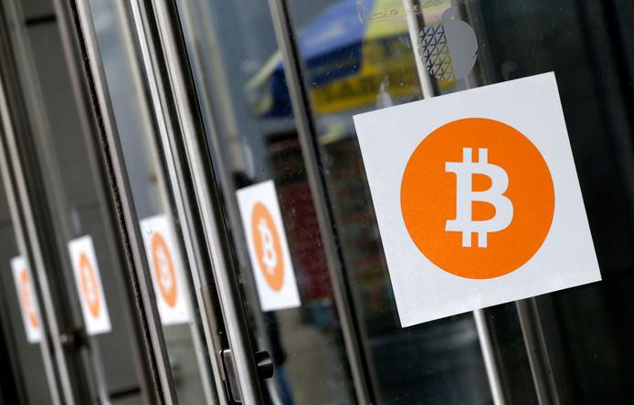 Het logo van Bitcoin.