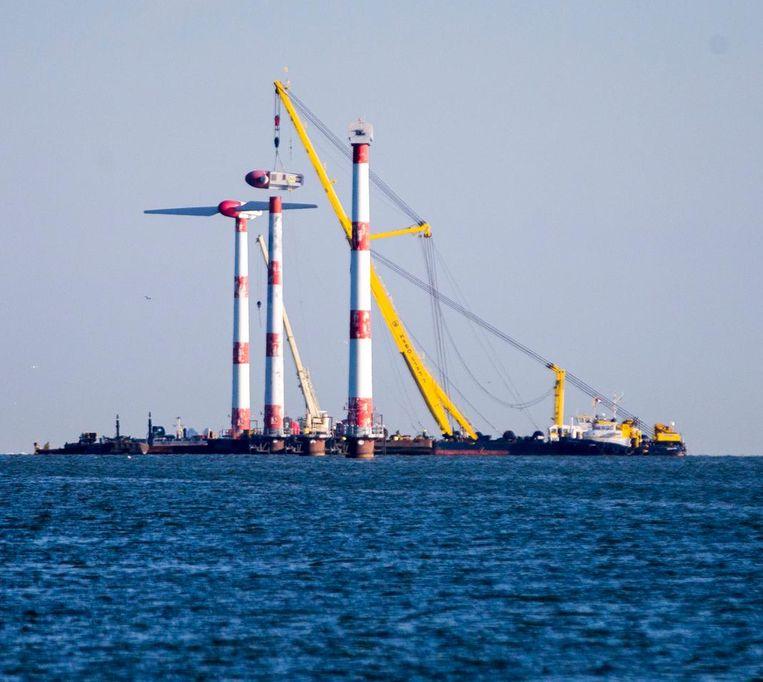'Spendeer de meevaller van het windmolenpark aan de slachtoffers van de gaswinning in Groningen.' Beeld anp