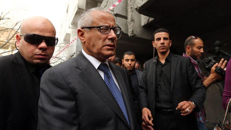 De Libische premier Ali Zeidan. Beeld afp