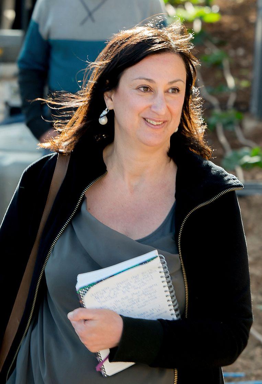 De vermoorde journaliste Daphne Caruana Galizia
