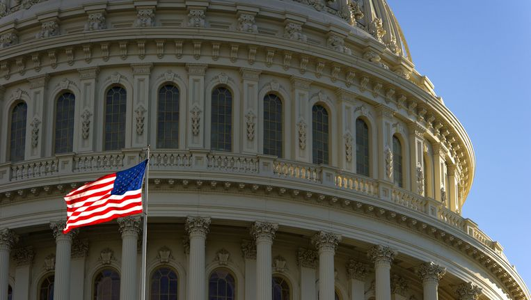 Capitol Hill in Washington DC Beeld ANP