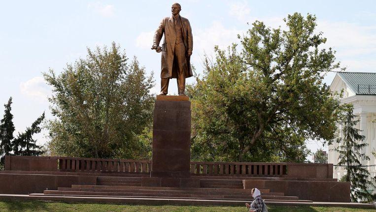 Een standbeeld van Lenin. Beeld epa