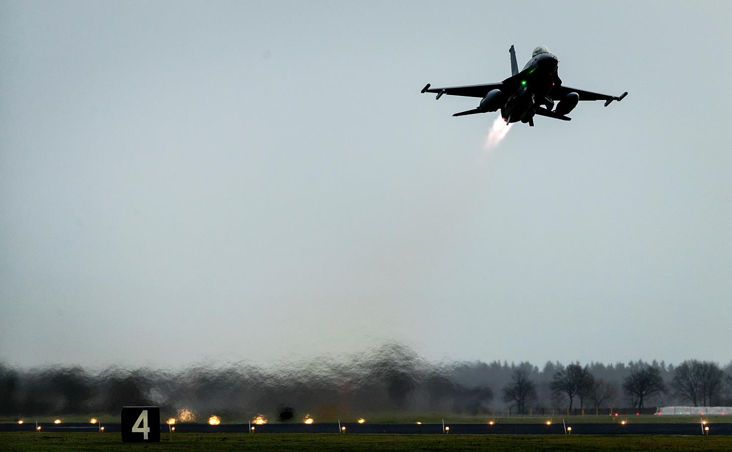 Een Nederlandse F-16.