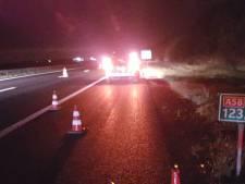 BMW-rijder vlucht na aanrijding op A58