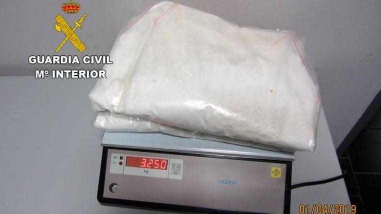 In totaal had de Belg 3,25 kilogram cocaïne in zijn bezit.