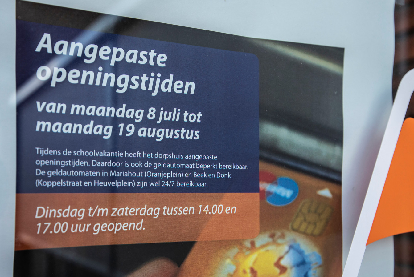 Problemen met bereikbaarheid van pinautomaat in dorpshuis Lieshout