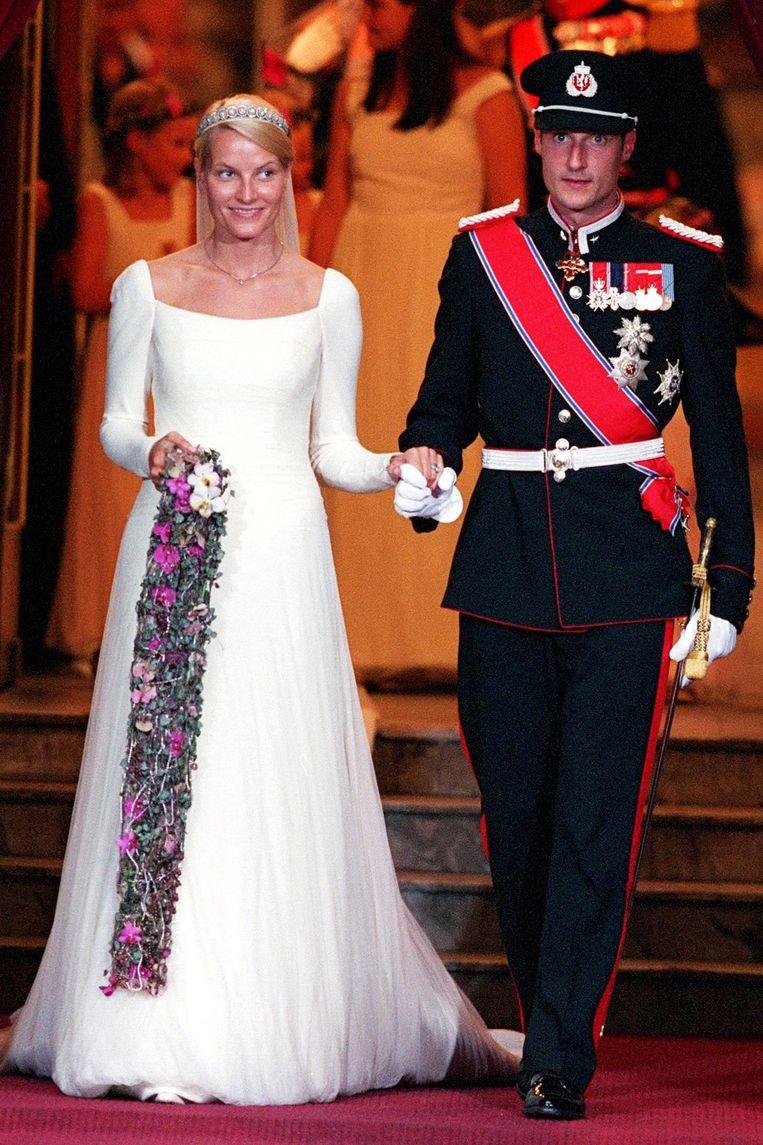 Prins Haakon van Noorwegen en Mette-Marit Tjessem Høiby