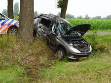 Bestuurder rijdt tegen boom en raakt gewond in Meddo