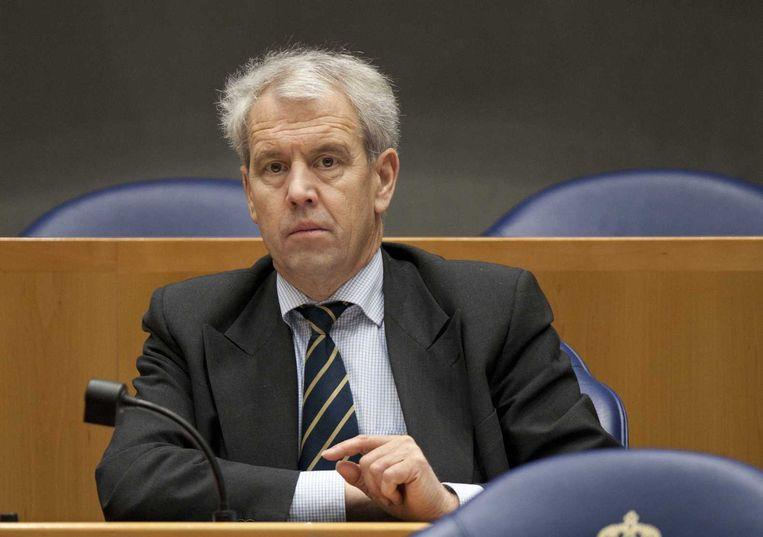 Johan Houwers in de Kamer namens de VVD. Beeld anp