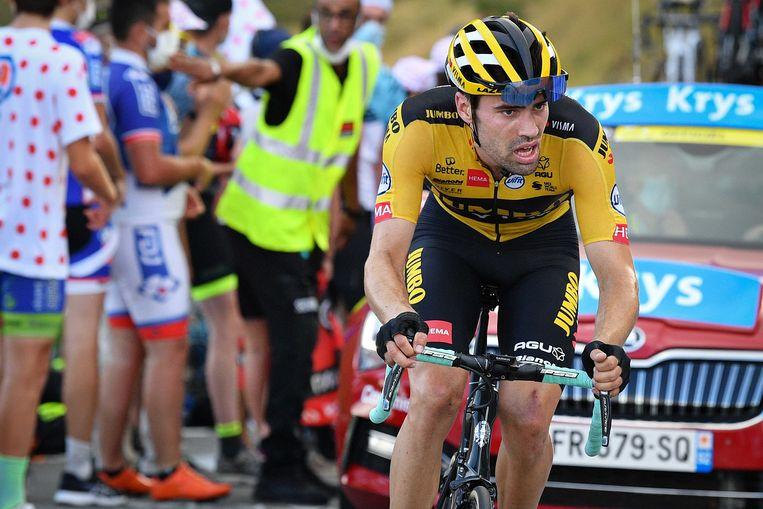 Tom Dumoulin tijdens de achtste etappe. Beeld ANP