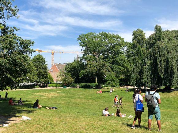 Stadspark op Hemelvaartsdag.