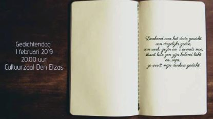 Schrijf je tijdig in voor de gedichtendag