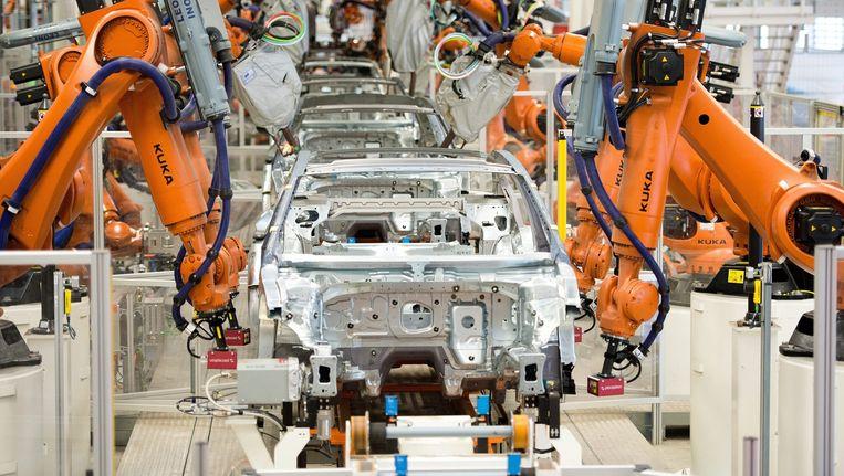 Een Volkswagenfabriek in Duitsland Beeld epa
