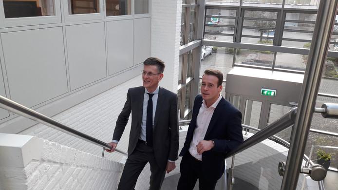Mark Wonders (rechts) en Leo Overmars vormen het nieuwe directieduo bij de fusiecorporatie Woonmeij.