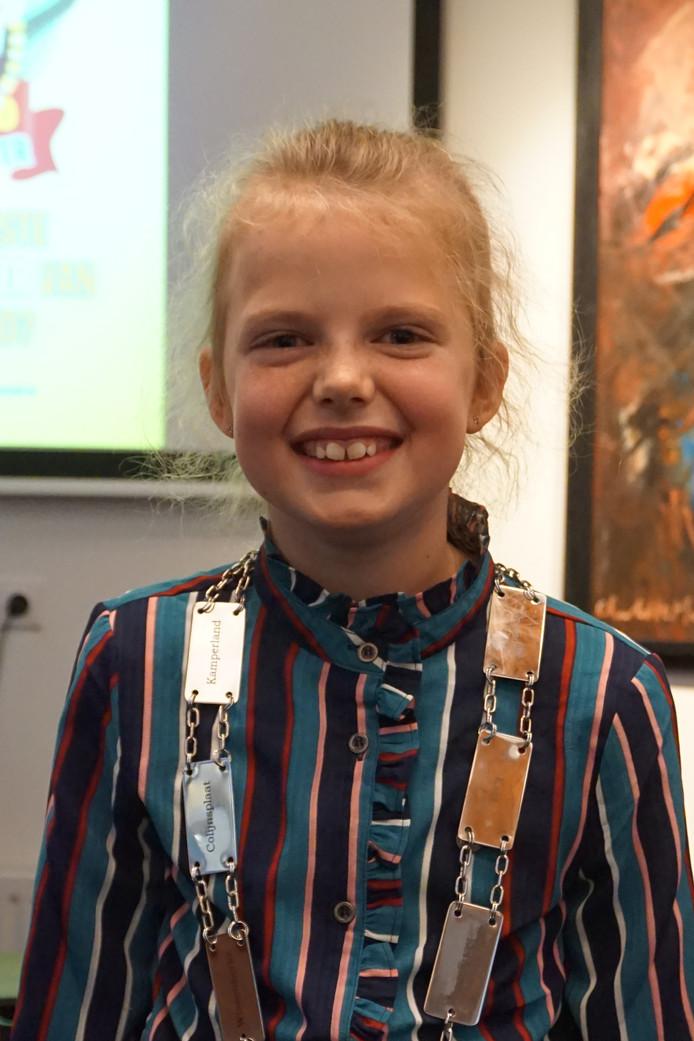 De 9-jarige Mares de Regt uit Colijnsplaat is de eerste kinderburgemeester van Noord-Beveland.