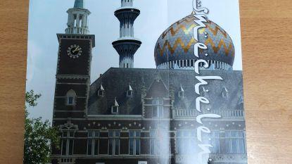Vlaams Belang bouwt gemeentehuis om tot moskee in nieuwe folder