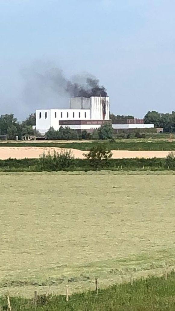 De brand bij de centrale in Dodewaard