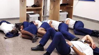 Kritiek op Ryanair nadat foto opduikt van personeel dat op de grond slaapt
