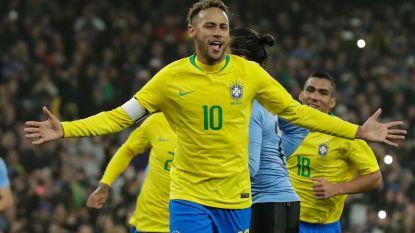 """FT buitenland. Neymar loodst Brazilië langs Uruguay - Kroatië moet Rakitic missen in beslissend duel - Hazard: """"Verdien de Ballon d'Or niet"""""""