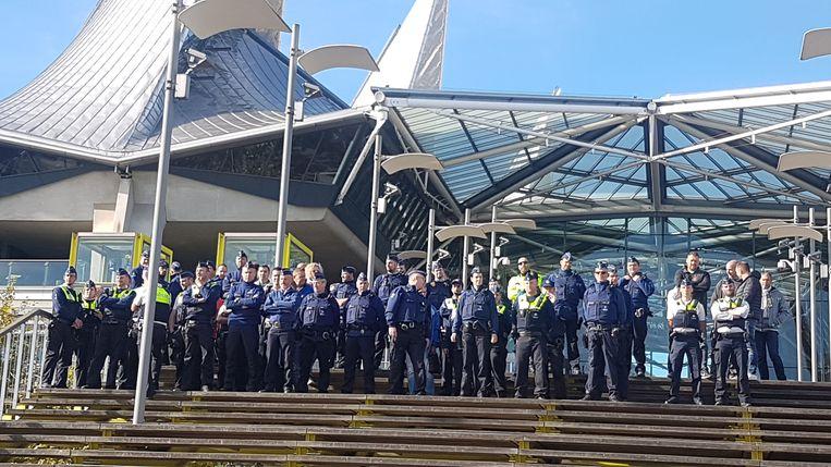 De actie aan het justitiepaleis in Antwerpen.