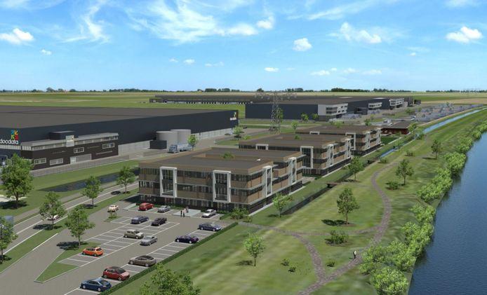 In de nieuw te bouwen campus op bedrijventerrein Haven Zeven in Waalwijk is straks woonruimte voor vierhonderd arbeidsmigranten.
