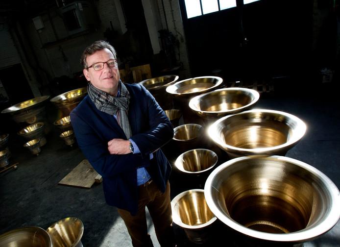 Directeur Joost Eijsbouts van klokkengieterij Eijsbouts in Asten