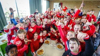Rode Neuzenpasta in basisschool Sint-Lodewijks