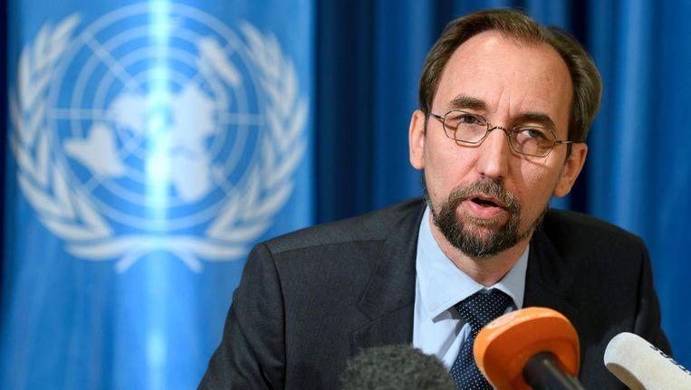 De mensenrechtenchef van de VN, Zeid Ra'ad Al Hussein, noemt Trump 'gevaarlijk' Beeld epa