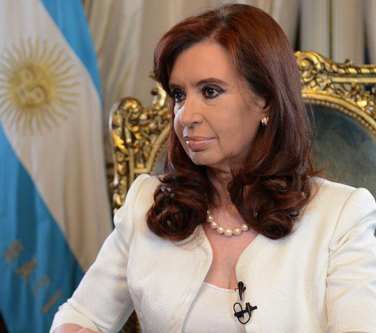 De Argentijnse president Cristina Fernandez. Beeld reuters
