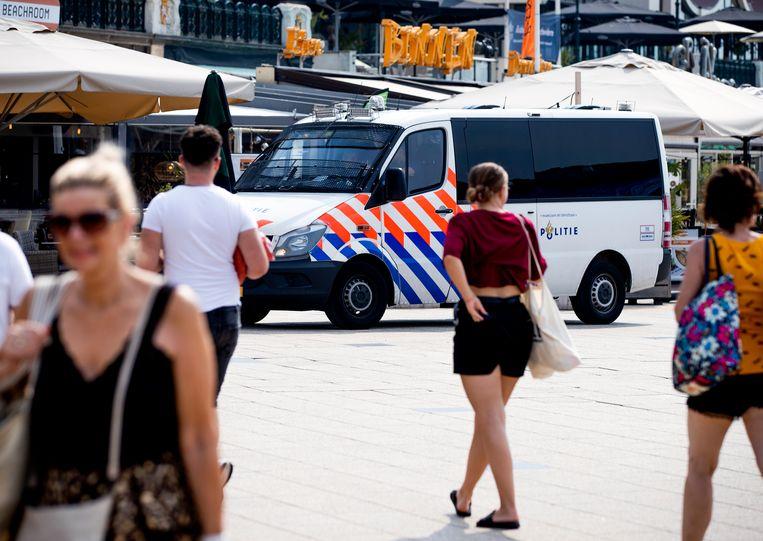 De politie heeft opnieuw een aanhouding verricht in verband met een fatale steekpartij in Scheveningen. Beeld ANP
