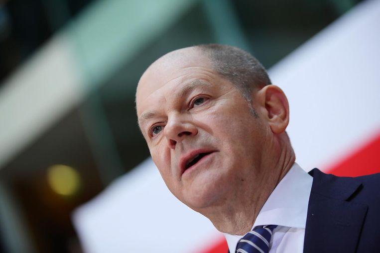SPD-leider Olaf Scholz Beeld anp