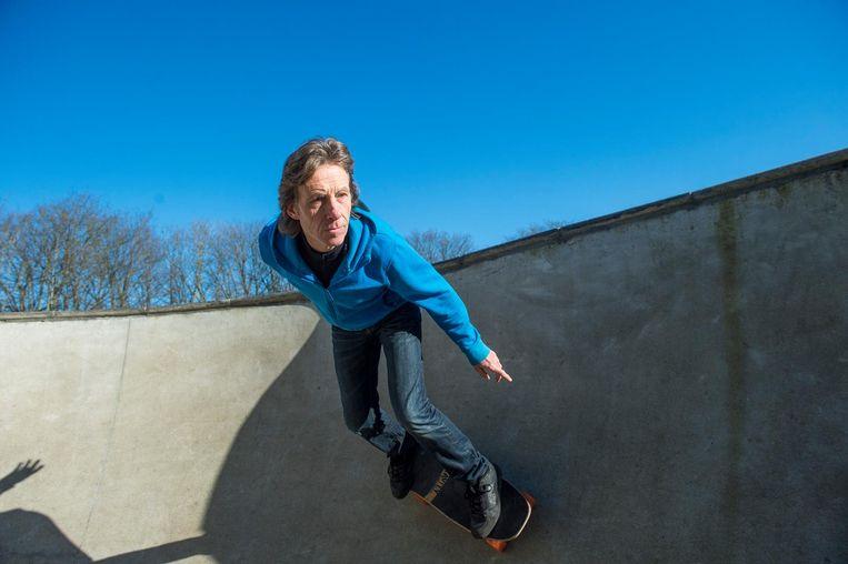 Geert Vanblaere is vaak terug te vinden in het skatepark velodroom van Oostende.