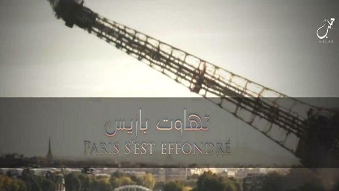 Tour Eiffel effondrée, avion Air France... L'EI continue à menacer la France.