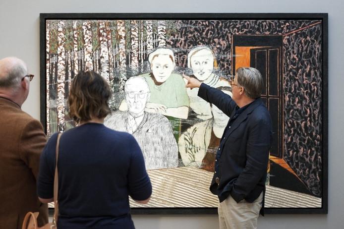 Jeroen Krabbé exposeert in de Fundatie het lijdensverhaal van zijn grootvader. Foto ANP