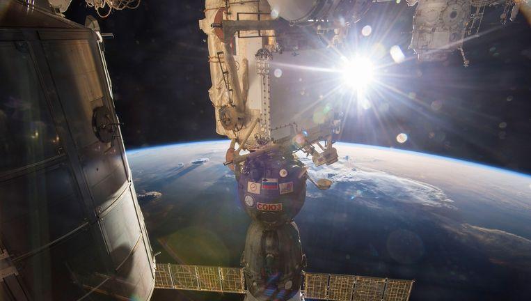 Het internationale ruimtestation ISS. Beeld afp