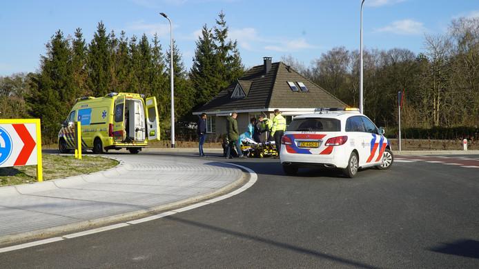 Een fietser raakte gewond bij het ongeluk