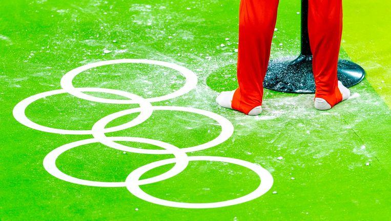 Epke Zonderland in de Olympic Arena. Beeld anp