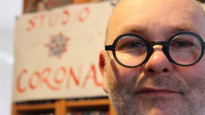 """De lockdown van cartoonist Steve Michiels: """"Atelier tijdelijk omgedoopt tot Studio Corona"""""""