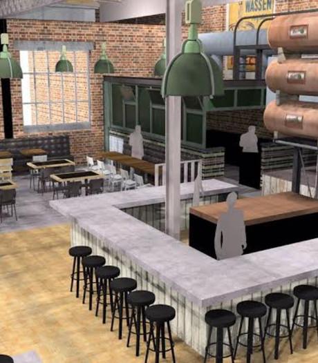 Wittern haakt af, toch een nieuw restaurant in monumentaal ketelhuis AaBe Fabriek
