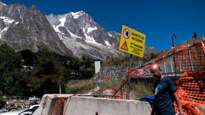 Gigantisch stuk gletsjer dreigt af te breken: evacuatie aan Italiaanse kant Mont Blanc