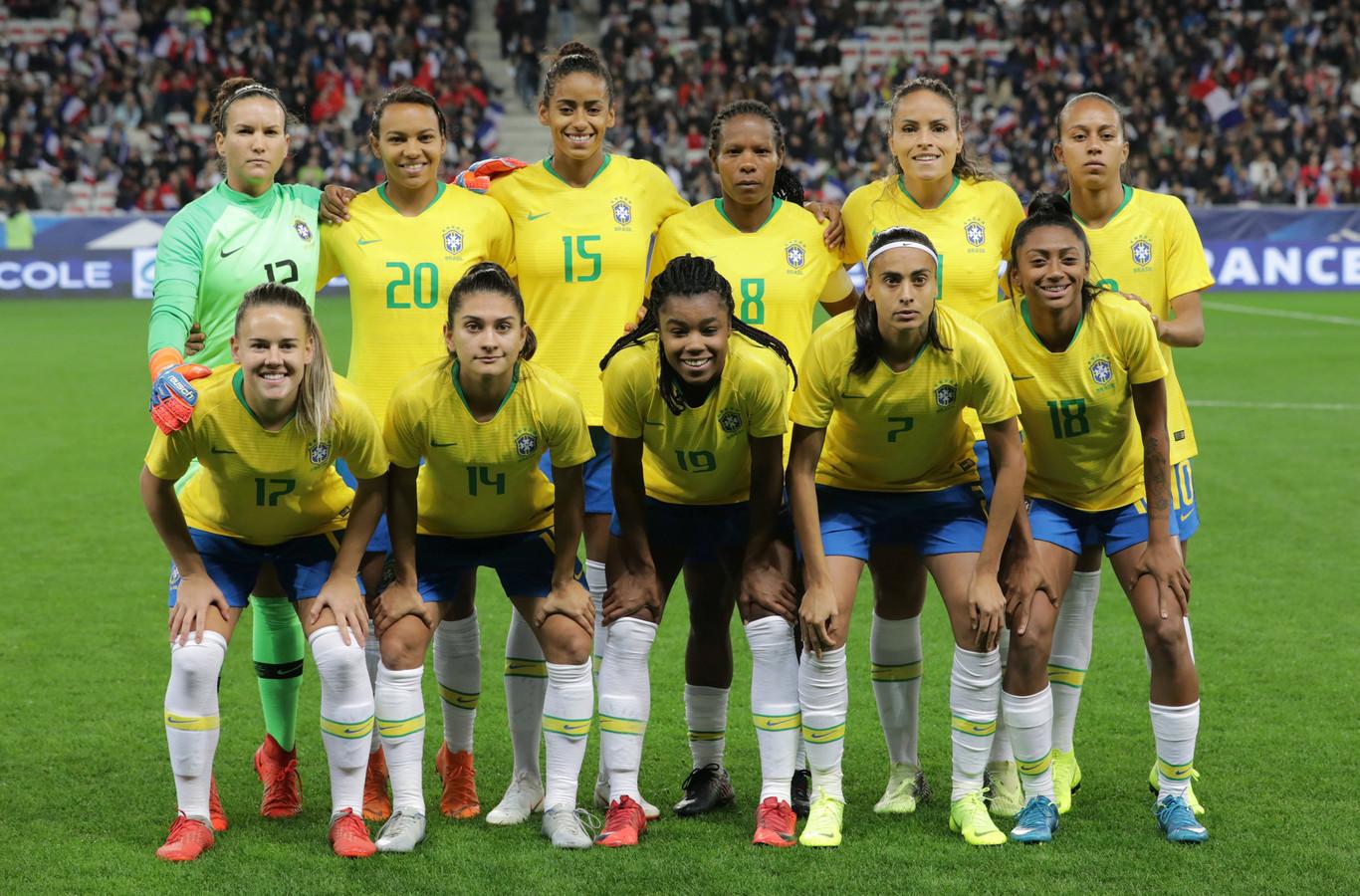 De voetbalsters van Brazilië.