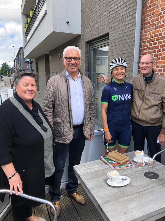 Ook in Stekene werden de deelnemers ontvangen door een delegatie van het gemeentebestuur.