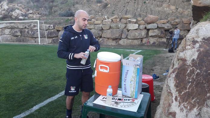 Muslu Nalbantoglu tijdens een trainingskamp van NEC in Estepona.