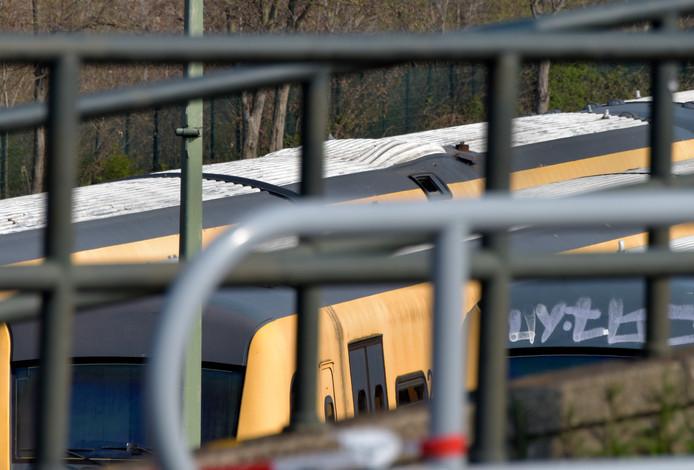 De trein van de ontploffing.