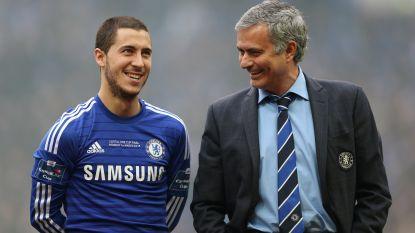 """Waarom Eden Hazard in het beste elftal aller tijden van José Mourinho staat: """"Als het gevoel goed zit, vertel je lieve zaken over elkaar"""""""