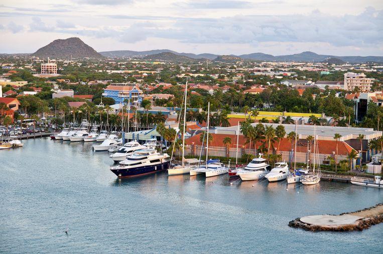 Oranjestad, de hoofdstad van Aruba.